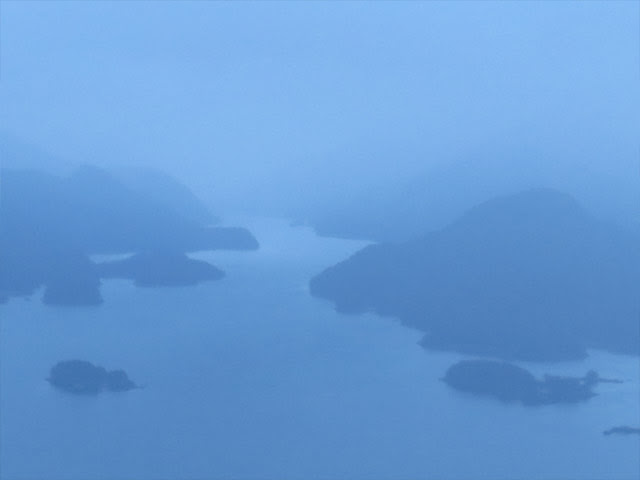 Tutka Bay in fog