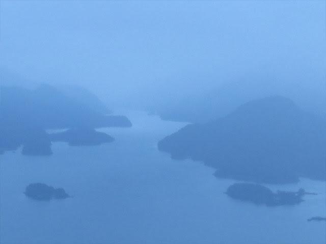 Tutka Bay in fog