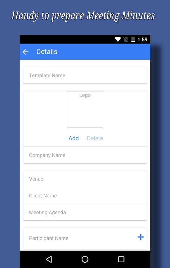 Handy Meeting Minutes  Android Apps On Google Play