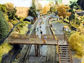 Photo: 013 Overhead view of the S bend through he station area at Tanybwlch .