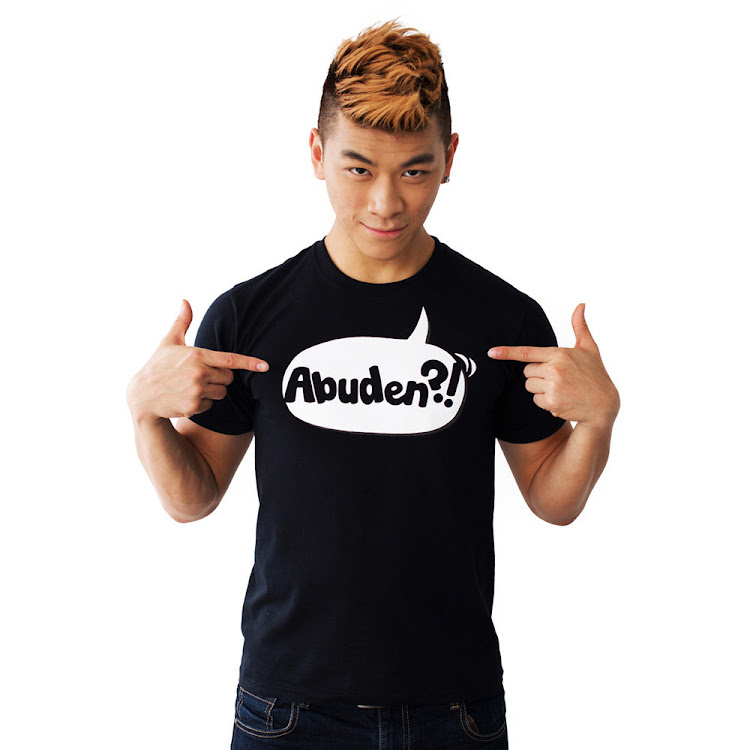 [LARGE] - ABUDEN?! Statement Tee (Black) Unisex