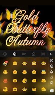 Gold Butterfly Autumn Keyboard Theme apk screenshot 3