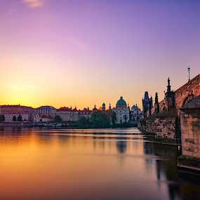 Charles Bridge  by Michal Kostka - Instagram & Mobile Android ( huawei, sunrise, czech republic, unesco, prague, charlesbridge )