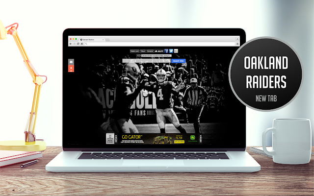 OFFICIAL NFL Oakland Raiders HD New Tab Theme