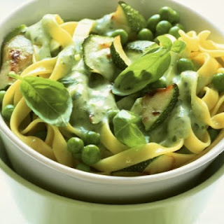 Zucchini and Pea Tagliatelle