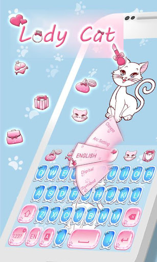 Lady Cat GO Keyboard Theme