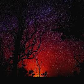 Volcano and Stars by Dave Walters - Digital Art Things ( nature, hawaii, volcano, lumix fz2500, colors, digital art,  )