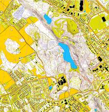 Photo: Ahvenistonharju esker, Hämeenlinna. Created with Karttapullautin from the open data of the National Land Survey of Finland
