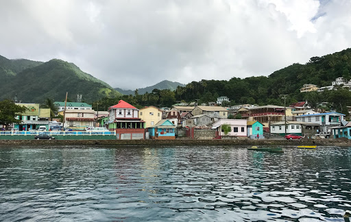 Soufriere-waterfront.jpg - The waterfront of Soufriere, a pretty port in St. Lucia.