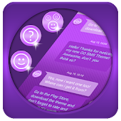 Purple SMS Theme
