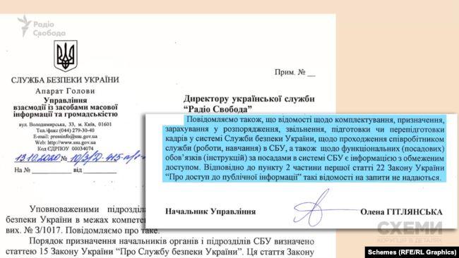 У СБУ відмовилися надавати біографію Андрія Наумова чи розповідати про можливі нагороди та спецперевірки