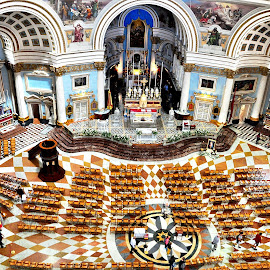 Mosta Basilica.....Bird's Eye View by Francis Xavier Camilleri - Buildings & Architecture Places of Worship
