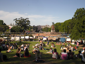 Photo: this is what people do all over BA on the weekends - get some sun in the parks and green spaces