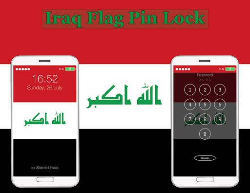 Iraq Flag Pin Lock Screen