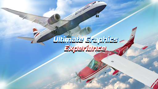 Flight Plane Simulator 3D : Airplane Flying Sim apkpoly screenshots 3