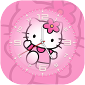 Kitty Clock Live Wallpaper