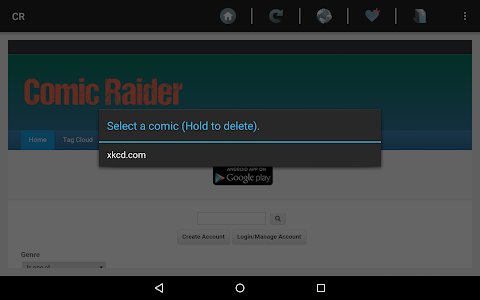 Comic Raider webcomic reader screenshot 1