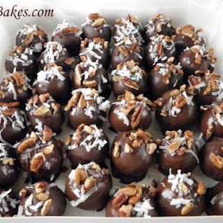German Chocolate Cake Balls.