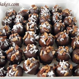 German Chocolate Cake Balls.