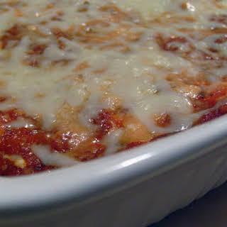 Cheesy Shrimp (Prawn) and Mushroom Pasta Bake.