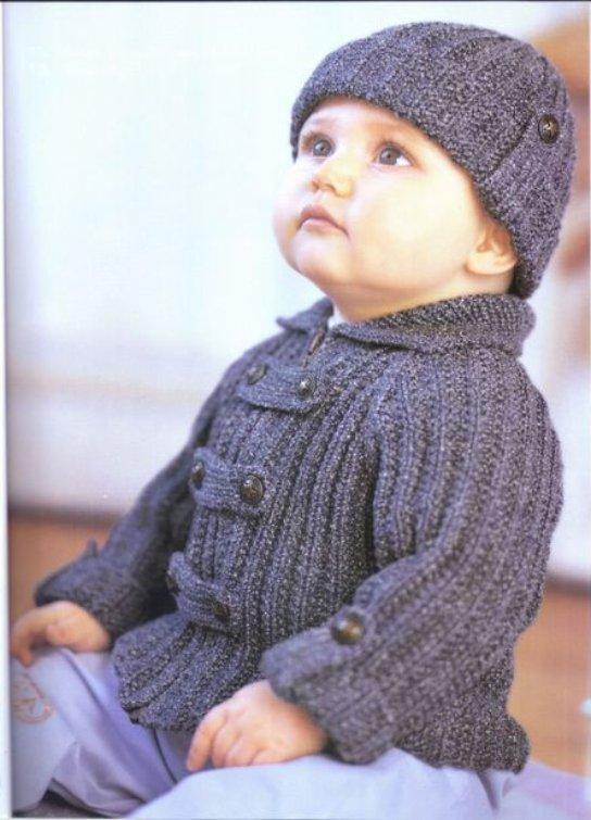 вязание кофточки на 1 годик