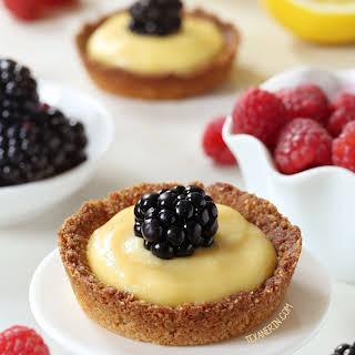 Paleo Mini Lemon Tarts (grain-free, gluten-free, dairy-free).
