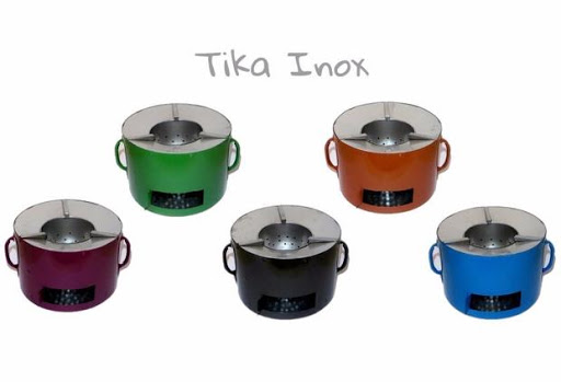 Tika Inox à charbon de bois