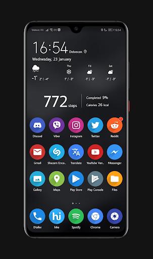 Screenshot for Dark EMUI 9 Theme for Huawei/Honor in Hong Kong Play Store