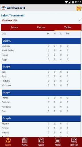 Livescore : World Cup Russia 2018 2.1.0 screenshots 3