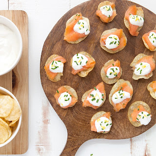 Smoked Salmon and Crème Fraîche Kettle Chips.