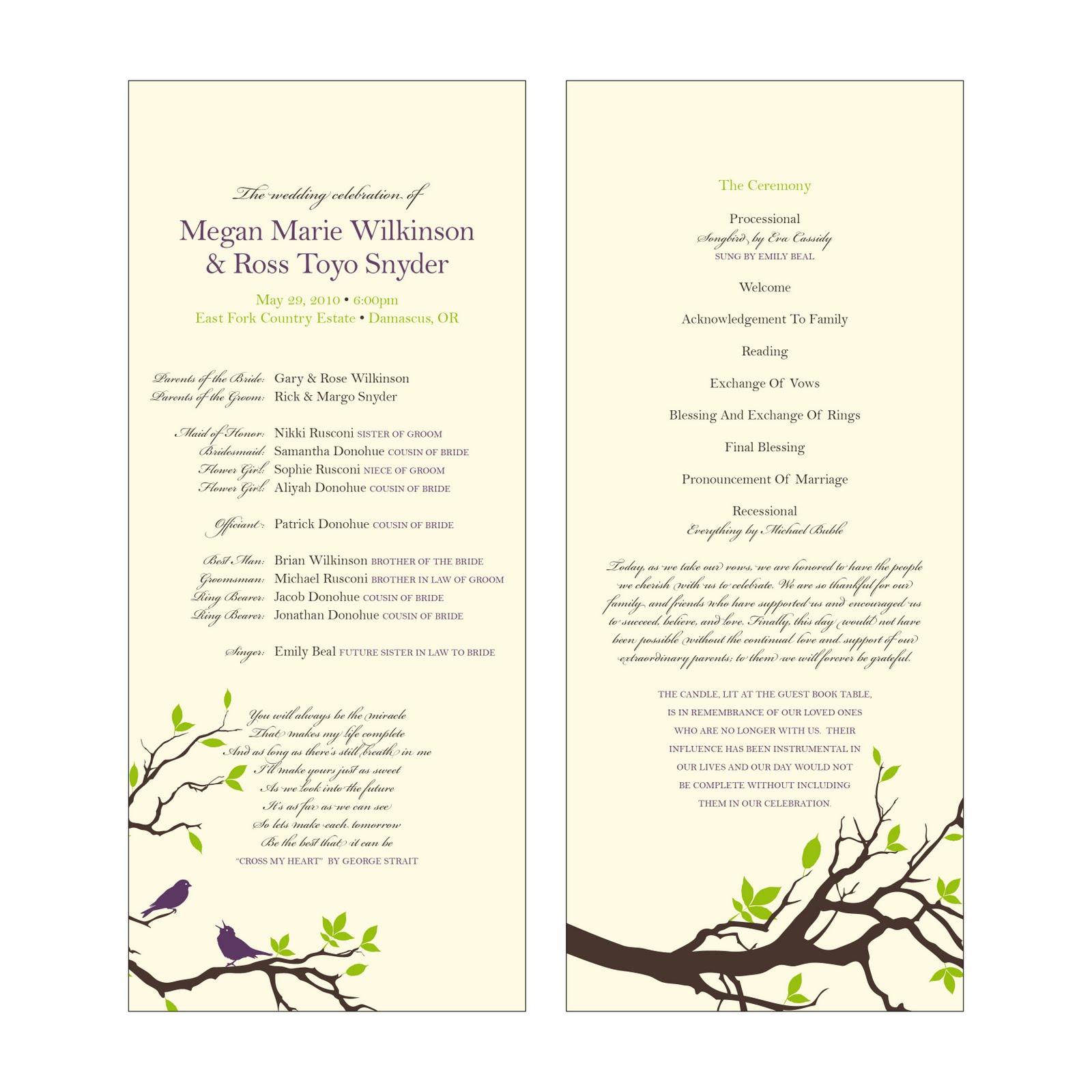 Free Catholic Wedding Program Templates Catholic Wedding Program - Catholic wedding program template