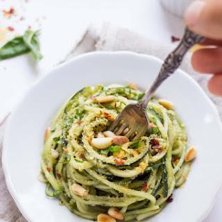 5-Minute Quinoa Pesto Zucchini Noodles