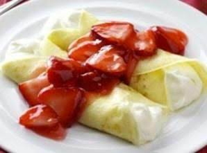 Strawberry Cream Crepes Recipe