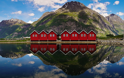 Sunndal by Jan Helge - Landscapes Mountains & Hills ( hills, reflection, mountains, sunndal, norway,  )