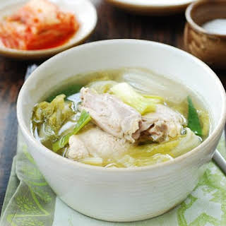 Slow Cooker Chicken Soup with Napa Cabbage.