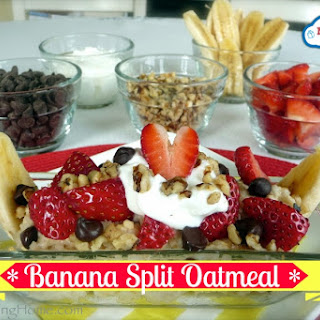 Banana Split Oatmeal Breakfast Bar.