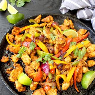 Easy Chicken Fajitas Recipe with Mango Habanero Salsa
