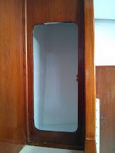 Photo: Inside locker forward of pilotberth painted white.