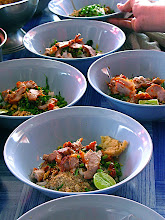 Photo: Sukhothai-style hot & sour noodles with roast pork (gkuay dtiow borahn Sukhothai)