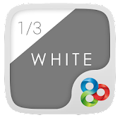 1/3 of White GO Launcher Theme