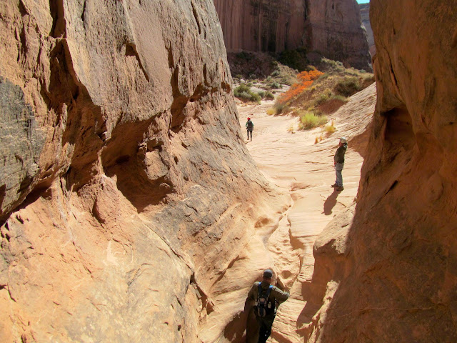 The canyon opens up