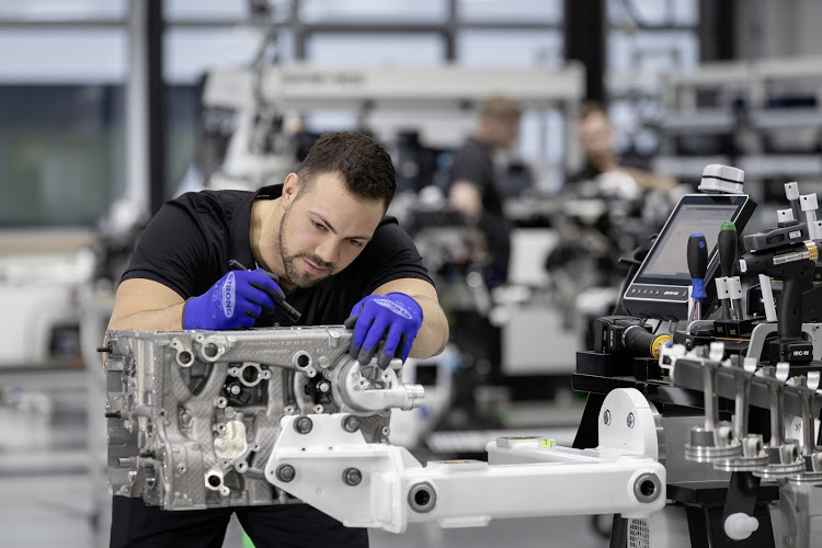 Each Mercedes-AMG engine is hand built by a single craftsman.