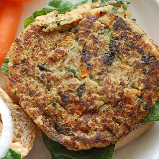 Quinoa Burgers with Chipotle Mayo