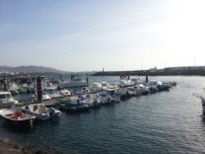 Photo: port in playa blanca