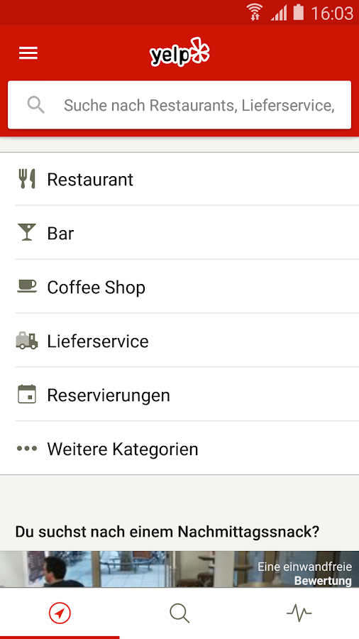 Yelp – Screenshot