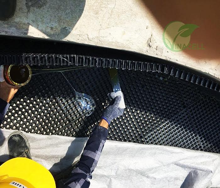 Drainage Vinacell không phản ứng với các hóa chất xây dựng