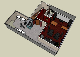 Photo: Redesigned floor plan removed door from theater to laundry room.