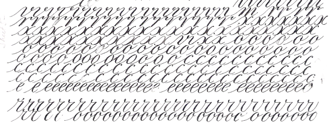 Learning Copperplate Page 4 Pointed Pen Calligraphy