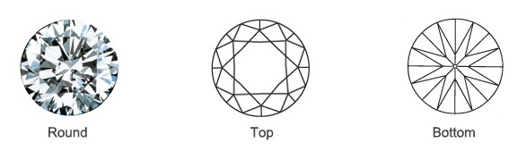 Popular Loose Round Diamond Shape