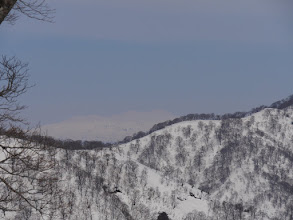 白山も霞でボヤけ